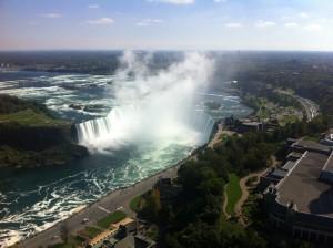 Birds-eye view of Niagara Falls
