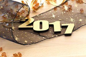 Happy new year 2017 celebration banner