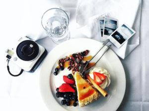 Dessert at the Skylon Tower Revolving Restaurant