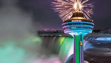 Skylon Tower New Year's Eve in Niagara Falls