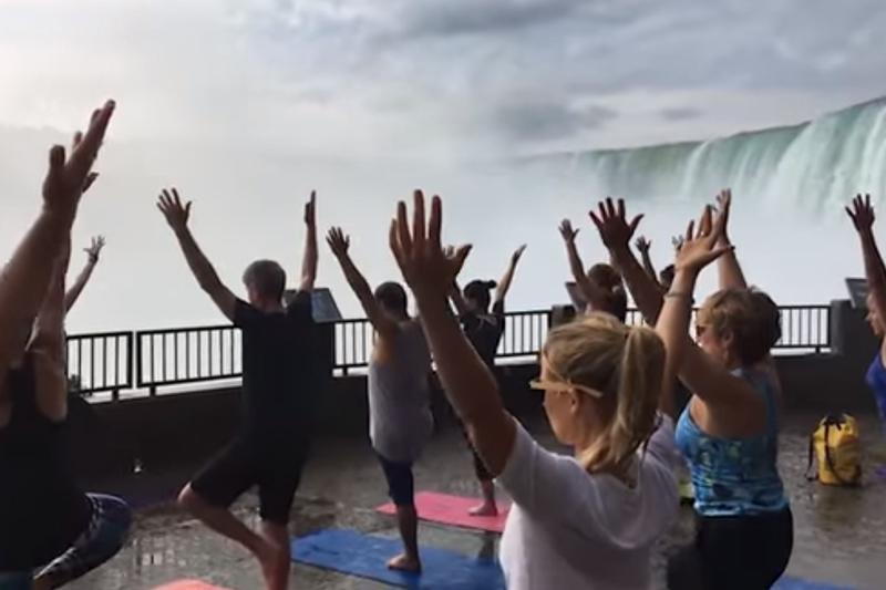 Namaste Niagara Yoga at the Journey Behind the Falls