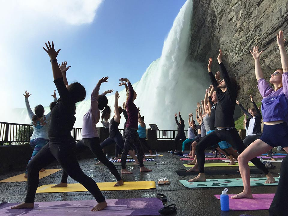 Yoga at Journey Behind the Falls