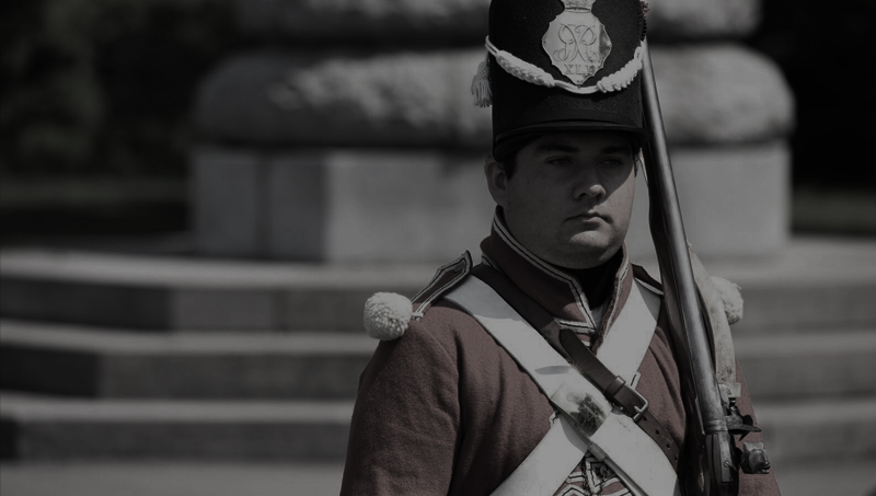 Soldier at Old Fort Erie