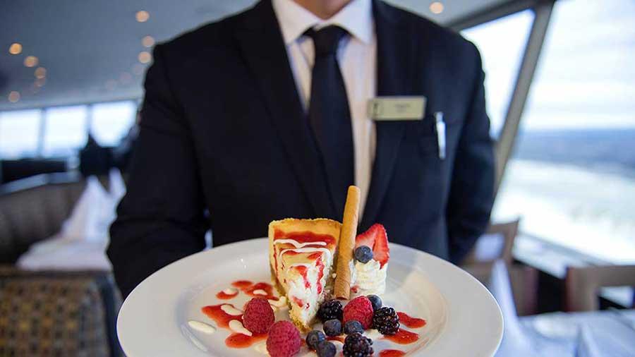 Waiter at the Revolving Restaurant