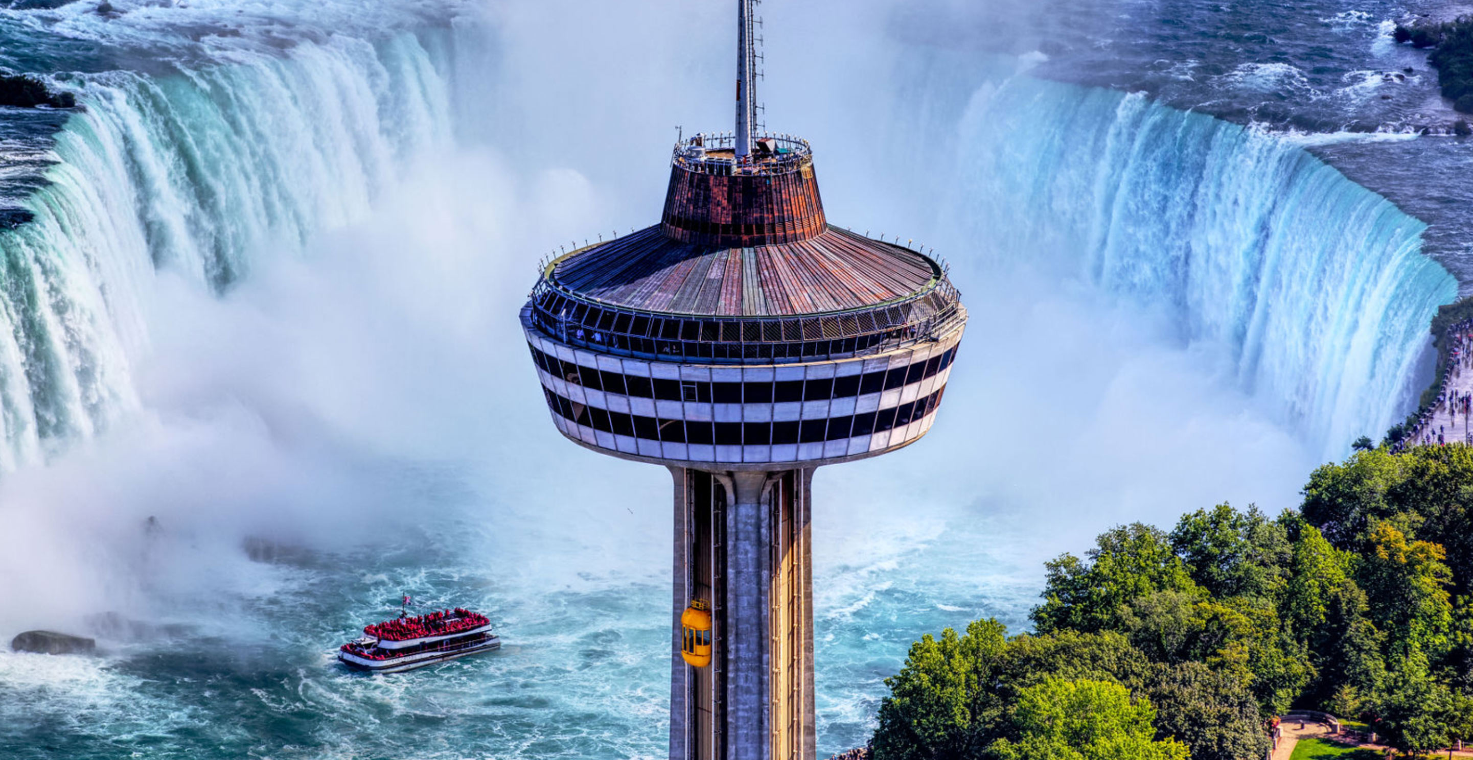 aerial view of the Skylon Tower