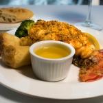 Skylon Tower Lobster Tail meal